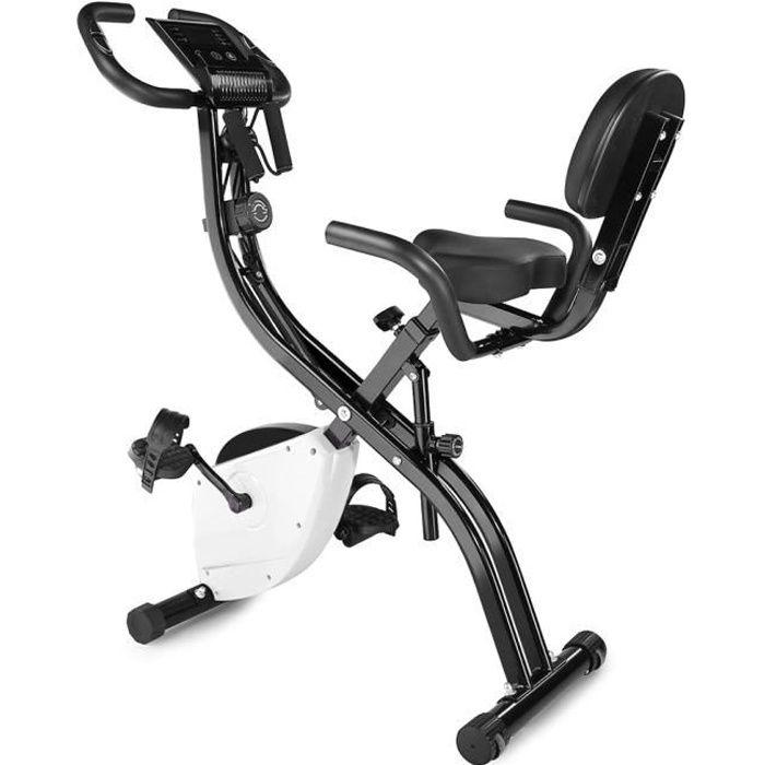 Vélo d'appartement- Bras Jambes- Ecran LED -Musculation Entrainement Fitness-pour fitness et cardio-noir-HFJ