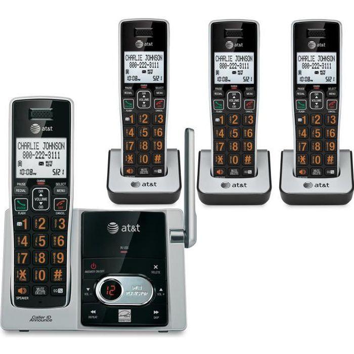 Répondeur téléphonique à 4 combinés CID - ATT-CL82413