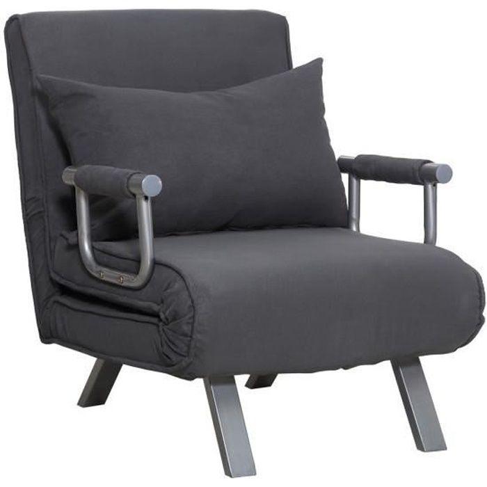 Canapé droit Gris Pas cher Contemporain Confort