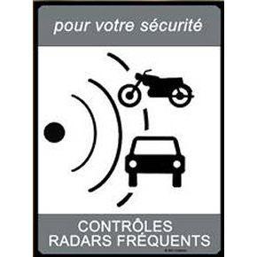 Plaque METAL 30X20cm PANNEAU RADAR Controles Radars Frequents