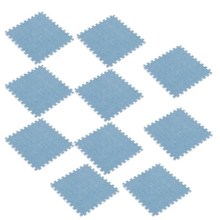 Tapis De Jeu Puzzle En Mousse,Tapis De Protection De Sol,Matelas Puzzle Pour Matériel Fitness, Gym, Musculation 10pcs Bleu Ciel