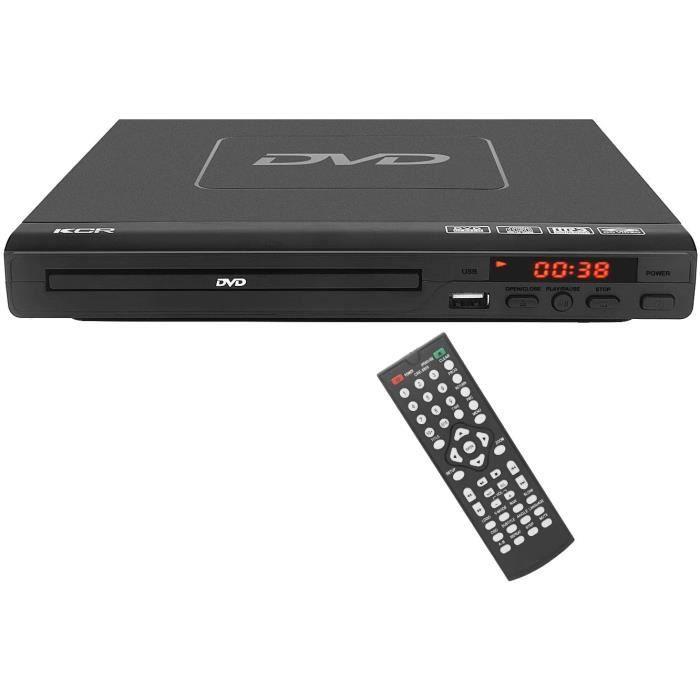 Lecteur DVD pour TV, Multi-Format Région DVD Libre CD / Lecteur de Disque, câble HDMI Inclus, entrée USB, intégré PAL / NTSC, Le con