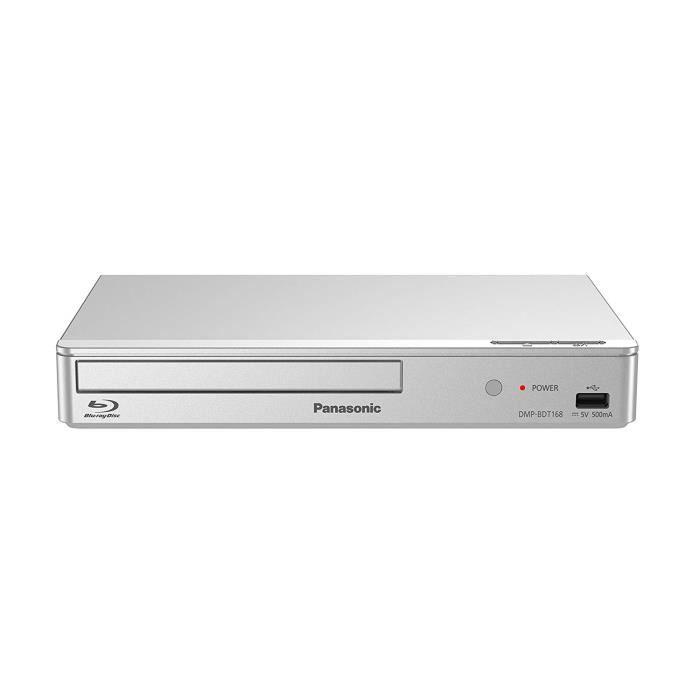 Panasonic DMP-BDT168EG Lecteur Blu-Ray Compatibilité 3D Argent lecteur Blu-Ray - Lecteurs Blu-Ray (Argent, Lecteur Blu-Ray, CD,CD