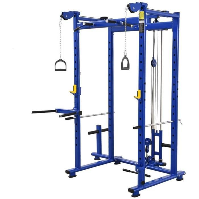 BANC DE MUSCULATION D&eacutecoration d'ameublement Support de squat Cage d'halt&eacuterophilie Multi fonctionnel M&eacutenage627