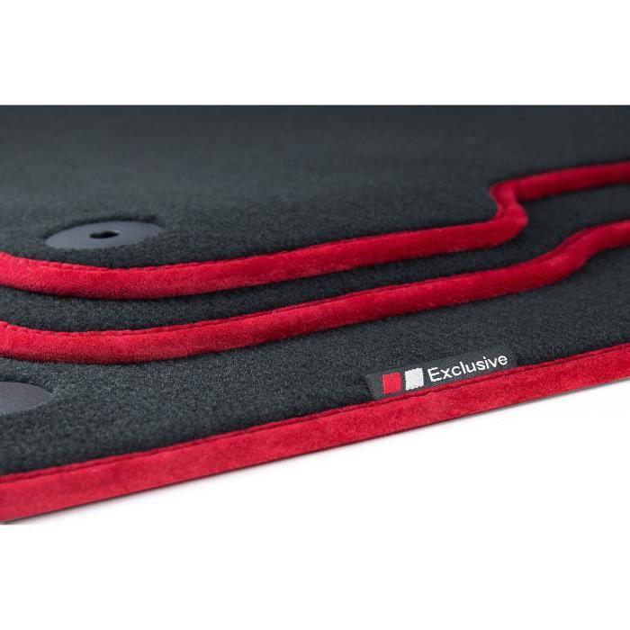 Luxury-line tapis de sol pour Porsche Cayenne 92A 958 année 2010-2017 [Rouge]