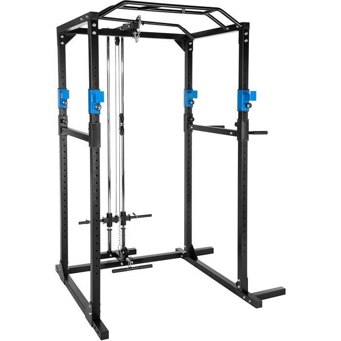 TecTake Cage Station de Musculation Mulitfonction, avec Barres Dips embotables, Barre de Traction[4402]