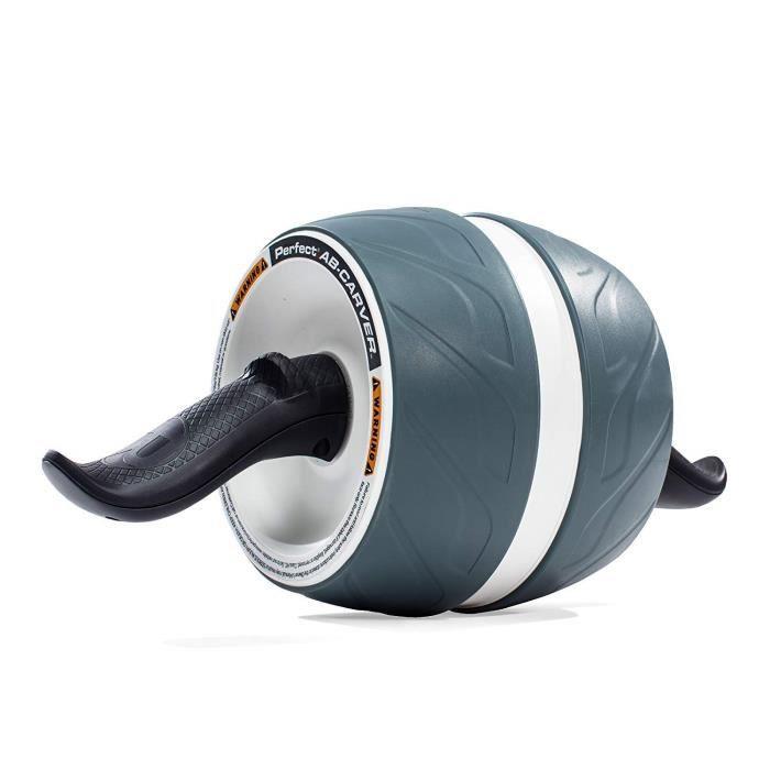 Roue Abdominaux AB Wheel Roller de Fitness Musculation Appareil Abdos -Tapis Épais pour Genou.