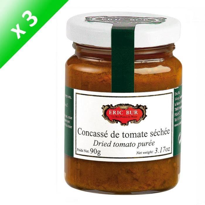 [LOT DE 3] ERIC BUR Concassé de Tomate Séchée Relevé - 90 g