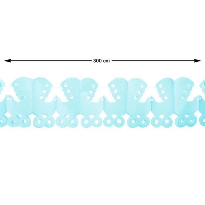 ATOSA Guirlande en papier - Bleu - 300 cm (Lot de 3)