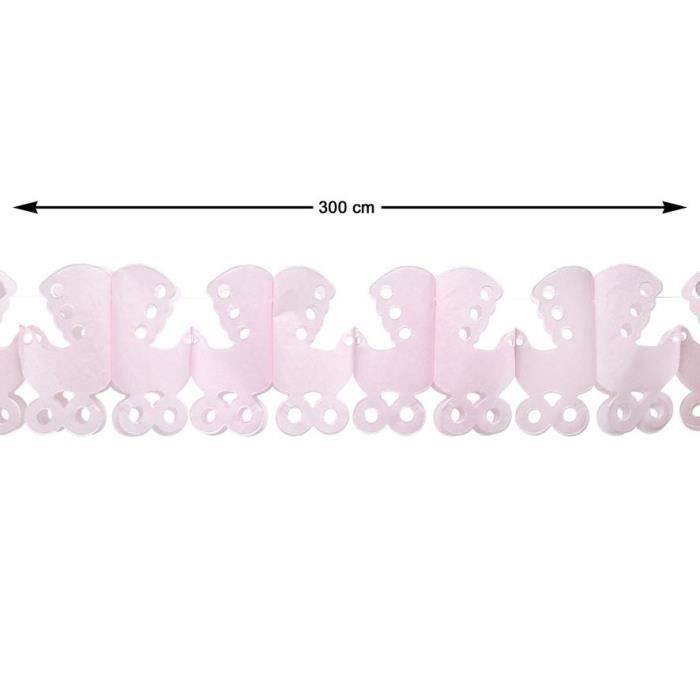 ATOSA Guirlande en papier - Rose - 300 cm (Lot de 3)