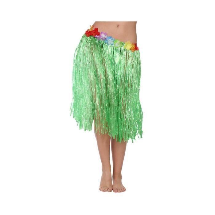 Jupe hawaïenne 41 cm Verte (Lot de 3)