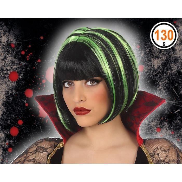 ATOSA - Perruque vampire Adultes Femmes - Vert (Lot de 3)