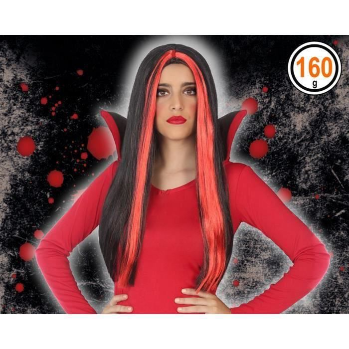 ATOSA - Perruque vampire Adultes Femmes - Rouge (Lot de 3)