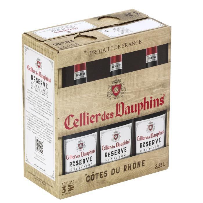 Cellier des Dauphins Réserve Côtes du Rhône - Vin rouge de la Vallée du Rhône - BIB 2,25 L