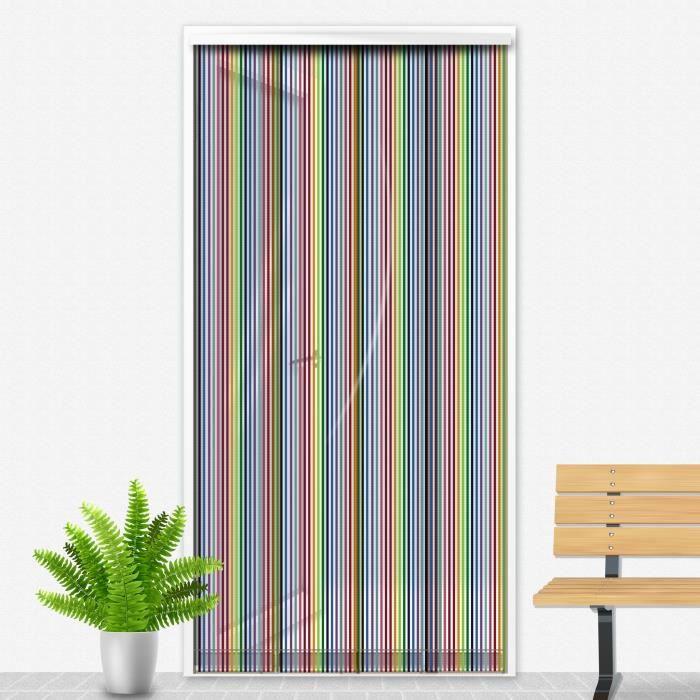 Porte Moustiquaire 90x220 cm Multicolore