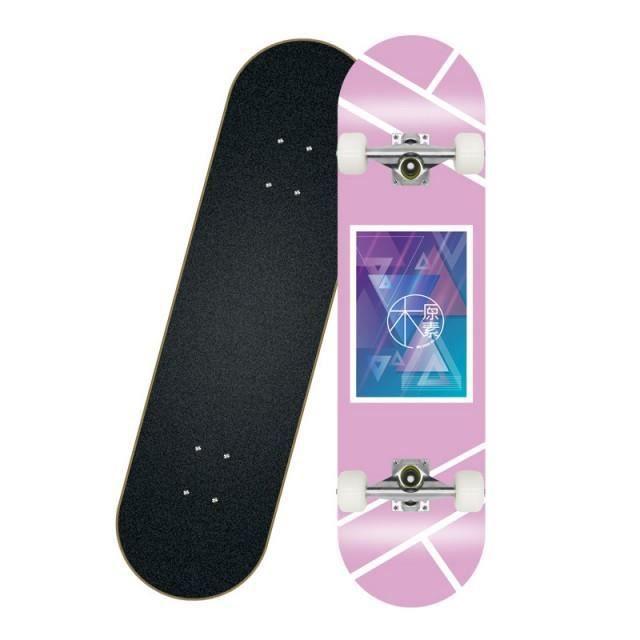 EGSII 80cm Skateboard Adulte Longboard Planche à Roulettes Rose