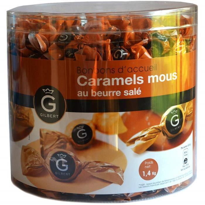 Mini bonbons d'accueil, Bonbon caramel au beurre salé, Mini bonbons pour salle s'attente, guichet réception, cabinet médical 1,4 KG