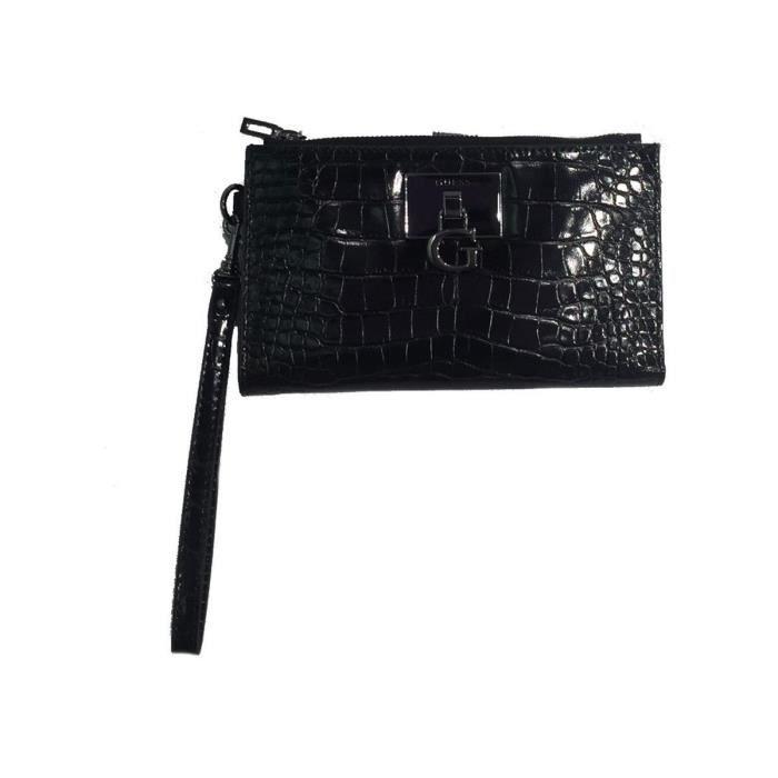 portefeuilles / porte-monnaie stephi slg dbl zip femme guess swsm78 75570 Noir