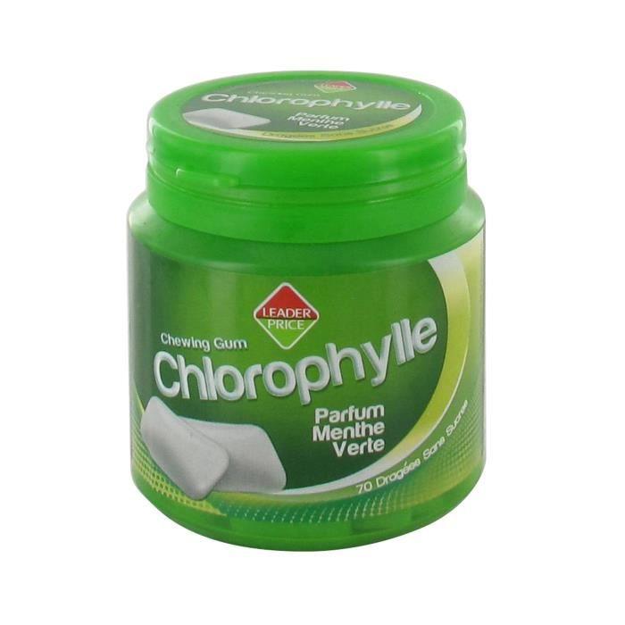 [Lot de 8] Chewing gum chlorophylle parfum menthe verte 70 dragées sans sucre - 98g par paquet