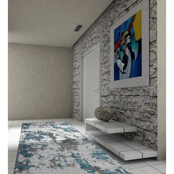 Tapis de couloir/passage Bleu 50x80cm