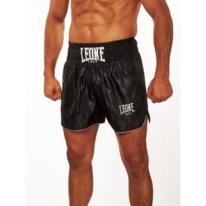 LEONE Short Kick Thaï Basic - Homme - Noir