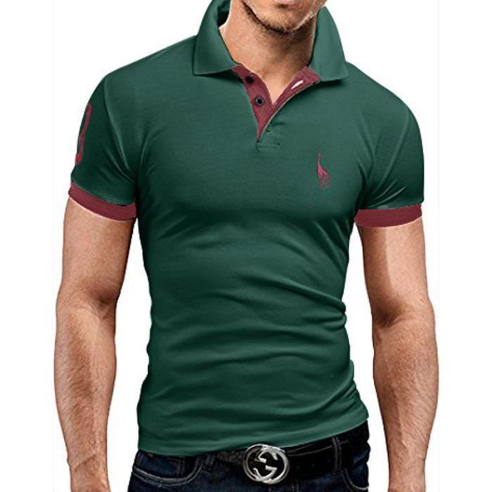 T Shirt Homme uni t-shirt slim fit homme polo de mode T-shirt de fitness Tee Shirt Hommes de sport