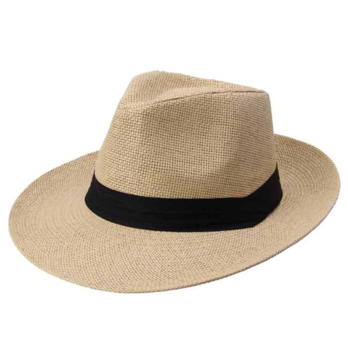 Chapeau de soleil pliable mode chapeau de en plein air élégant de plage style simple casquette décontractée pour hommes CASQUETTE