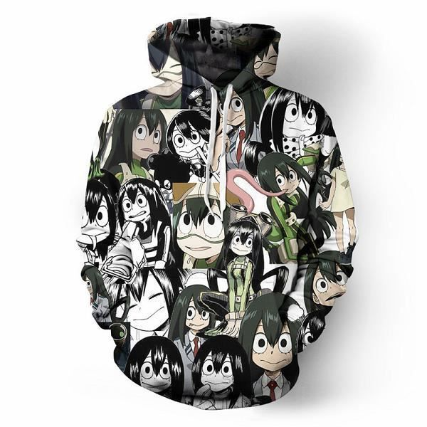 Sweat-shirt imprimé en 3D,Sweat à capuche Anime My Hero Academia Bakugo Katsuki Cosplay Costume Todoroki Shoto veste Halloween homm