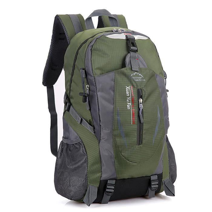 Sac à Dos Randonnée 40L Grande Capacité Housse Imperméable pour Sport Sacs de Trekking Camping Backpack Alpinisme Escalade - Armée V