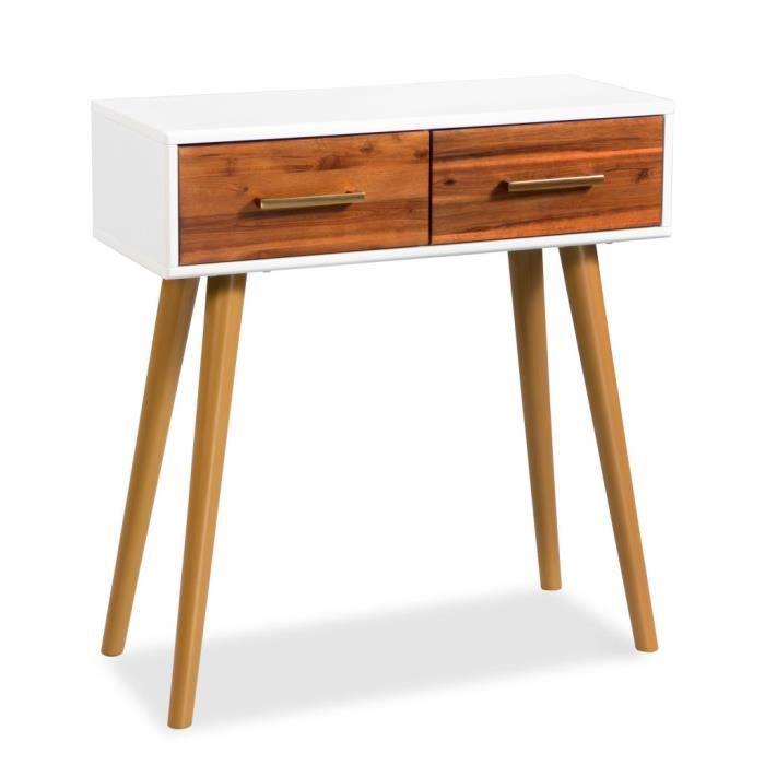Table console Bois d'acacia massif 70 x 30 x 75 cm