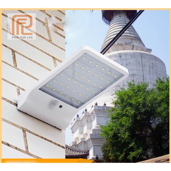 Lampe solaire 36 LED sans fil étanche avec détecteur de mouvement et lampe extérieure pour jardin,Porte,Entrée,etc