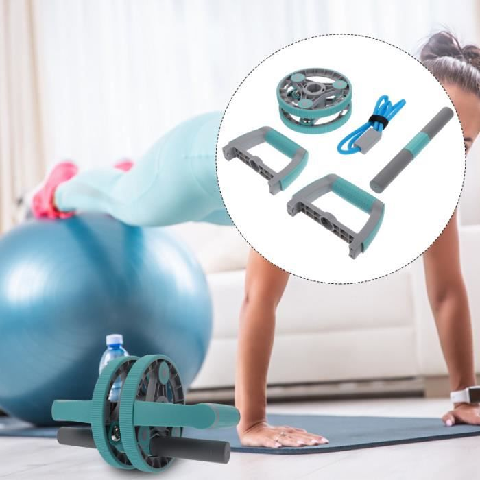 1PC Two-Wheeled AB Rouleau ABDominal Massage Roller Formateur musculaire appareil abdo - planche abdo fitness - musculation