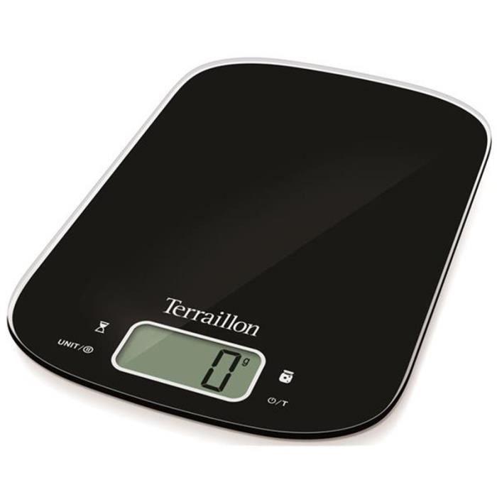 Préparation culinaire Balance de cuisine TERRAILLON - Balance 6 kg + bol inox -NEOCOOKJAMBLACK