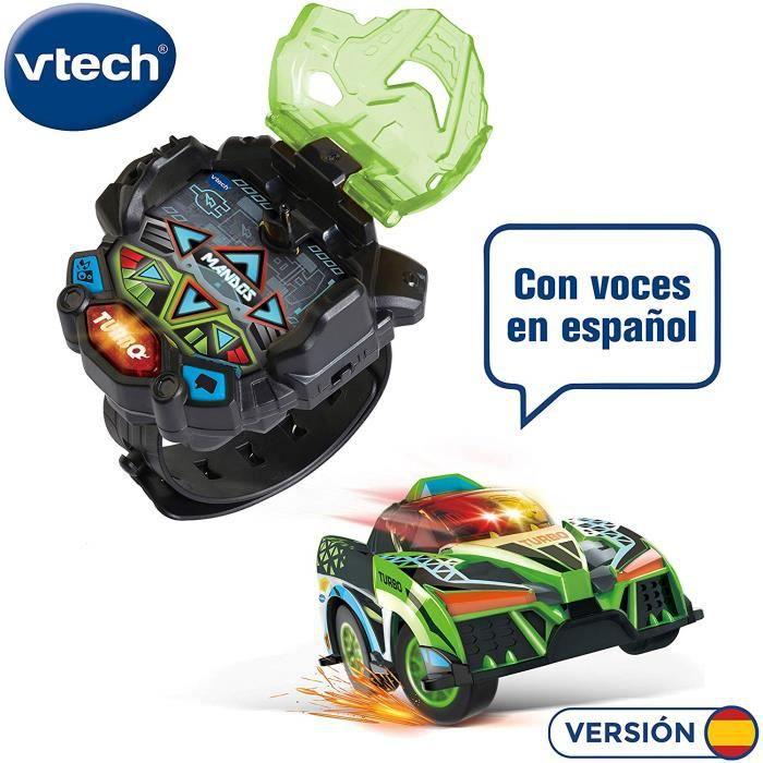 VTech - Turbo Force Racer Vert Mini Voiture Télécommande Rechargeable Couleur (3480-198322) 4131