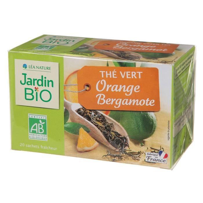 Thé vert bergamote bio ETUI 20 SACHETS DE 1.5G SOIT 30G Jardin Bio