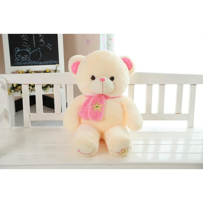 nounours peluche g ante ours 65 cm beige achat vente. Black Bedroom Furniture Sets. Home Design Ideas