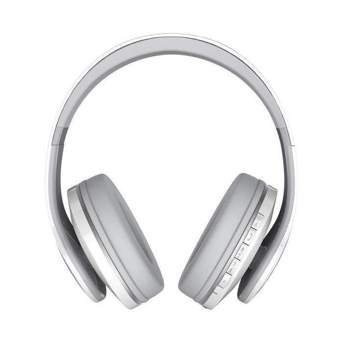 Jkr-213b Casque Mega Bass Avec Réduction Du Bruit De La Radio Fm Bluetooth (blanc)