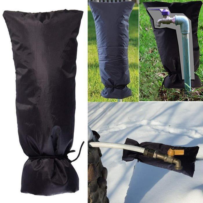 Noir Housse pour Robinet Exterieur Couverture Robinet Isotherme Protection pour Hiver Froid Gel iGgadgitz Home U6904