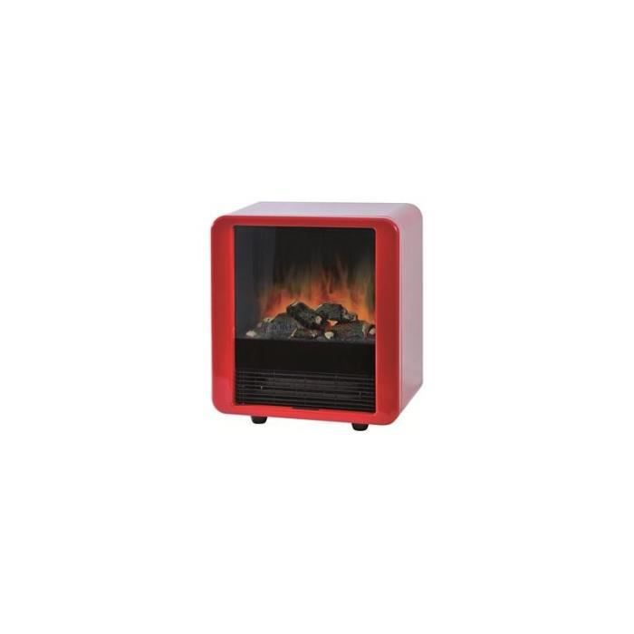 chemin e lectrique ewt mini cube rouge avec effet feu de. Black Bedroom Furniture Sets. Home Design Ideas