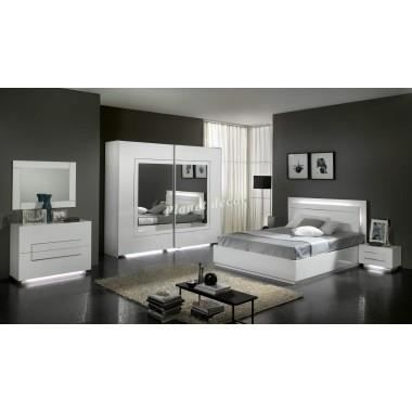 chambre coucher adulte model city armoire h 200 achat. Black Bedroom Furniture Sets. Home Design Ideas