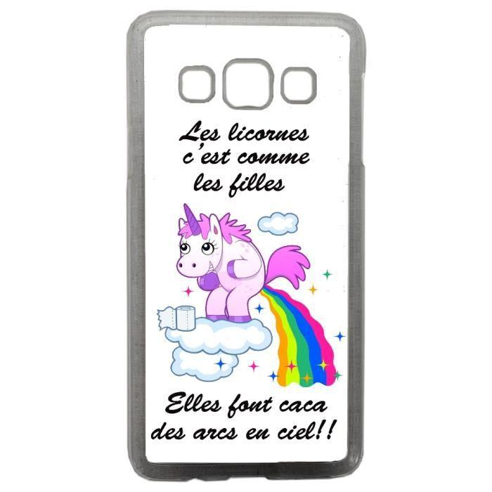 Coque pour Samsung A3 2017 Humour Licorne Arc En Ciel Girly Fille ...