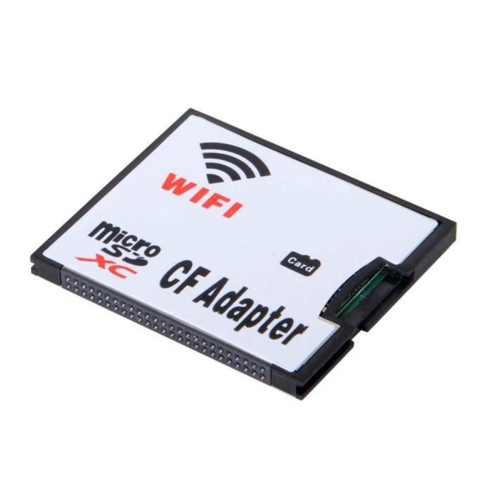 Rgbs Adaptateur Wifi Carte Memoire Tf Carte Micro Sd Vers Cf Compact Flash Kit Pour Appareil Photo Numerique Dslr Achat Vente Carte Memoire Cdiscount
