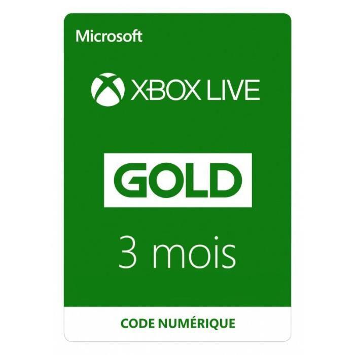 ABONNEMENT Abonnement Xbox Live 3 mois à télécharger
