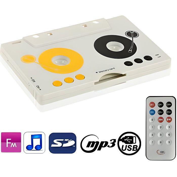 BALADEUR CD - CASSETTE Baladeur-Lecteur Mp3 Portable Style Cassette Sd/Mm