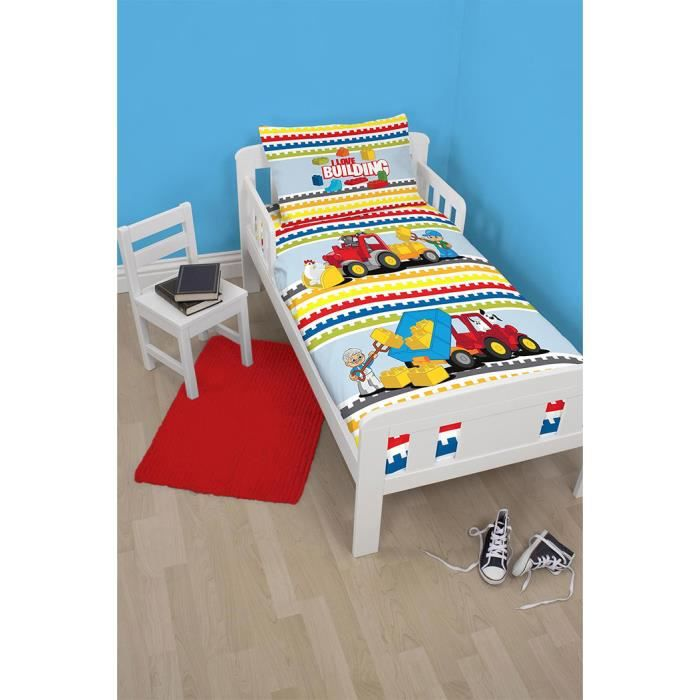 housse de couette taie lego duplo pour petit lit achat. Black Bedroom Furniture Sets. Home Design Ideas