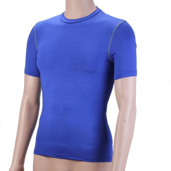 Lycra Manche Courte Homme Sportif Sports T Shirt Compression UVpjGLqzMS