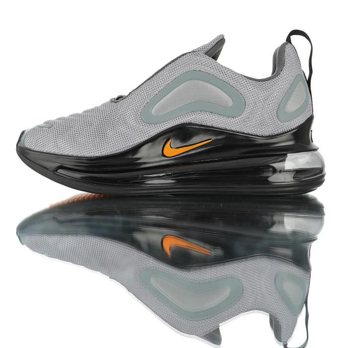 affordable price well known outlet for sale Baskets Nike Air Max 720 Homme et Femme Gris Noir Gris Gris ...