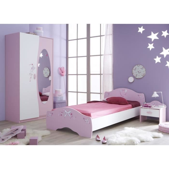 papillon chambre enfant 3 pi ces rose blanc achat vente chambre compl te papillon chambre 3. Black Bedroom Furniture Sets. Home Design Ideas