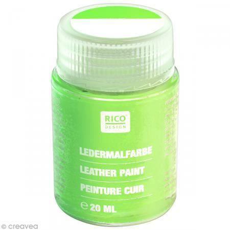 Peinture Cuir 20 Ml Pot De Peinture Pour Cuir Vert Végétal