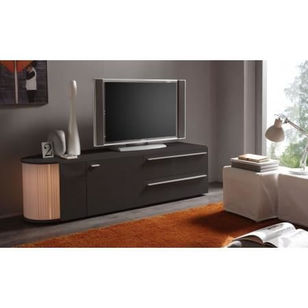 meuble tv led gris anthracite laqu s rial 17 achat. Black Bedroom Furniture Sets. Home Design Ideas